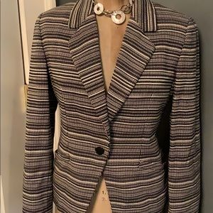 EUC BLACK/White cotton lined jacket